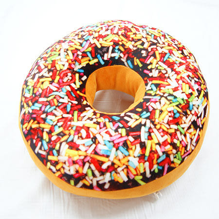 3D創意立體坐墊-七彩繽紛甜甜圈 TRP多利寶