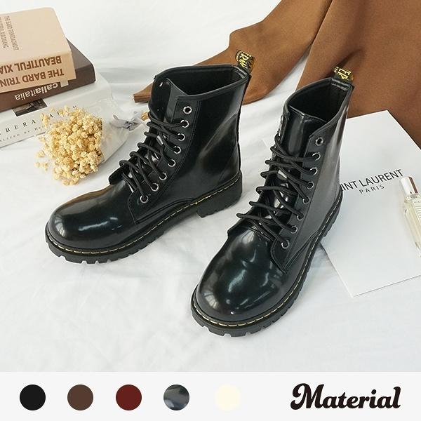 短靴 高質感個性綁帶短靴 MA女鞋 T7705