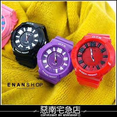 惡南宅急店【0379F】OTS‧男錶女錶情侶對錶可『運動繽紛色』電子手錶‧單價