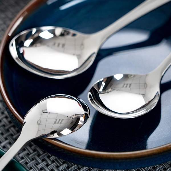 3個裝大號喝湯勺子家用鋼勺304不銹鋼勺圓頭成人