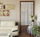 可愛時尚棉麻門簾82 廚房半簾 咖啡簾 窗幔簾 穿杆簾 風水簾 (85cm寬*150cm高)