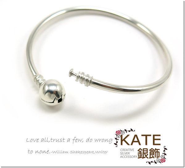 銀飾純銀手環 風靡全球幸運手鍊 串起妳故事 3mm銀管18cm 925純銀手鍊手環 KATE 銀飾