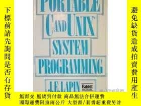 二手書博民逛書店Portable罕見C And Unix System Programming (prentice-hall Si