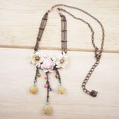 【粉紅堂 飾品】生日禮物 玫瑰花朵復古項鍊