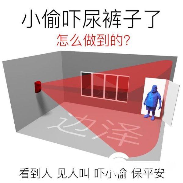 邊澤電子狗紅外線報警器家用家庭店鋪超市人體感應防盜器小偷門窗-奇幻樂園