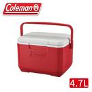 【Coleman 美國 TAKE 6 高效能行動冰箱《美利紅》】CM-33010/行動冰箱/冰桶/保冰箱