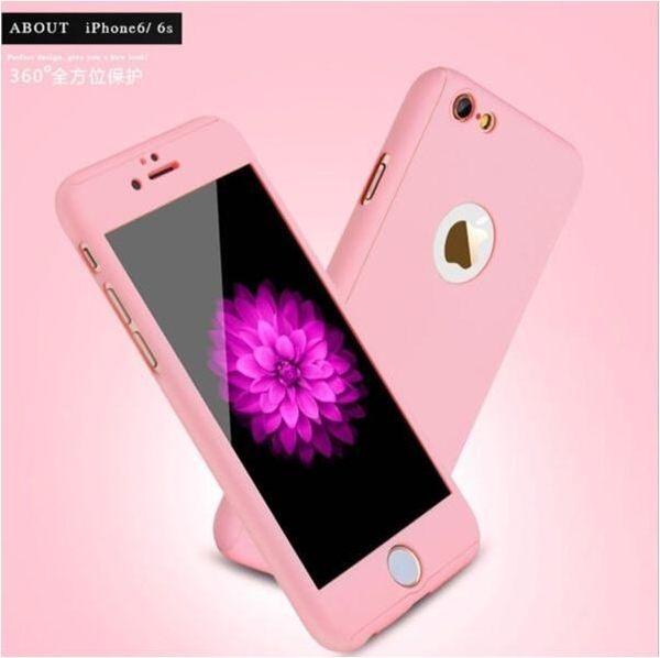 蘋果 iphone 6/6s/7/8 plus ix 金屬質感360度全包保護 手機殼 硬殼 輕薄 緊密貼合 抗震防摔 霧面
