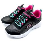 《7+1童鞋》中童 SKECHERS 82008L/BKMT 輕量透氣網布 亮片 運動鞋 慢跑鞋 B979 黑色