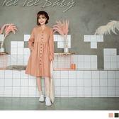 《DA5170》立領排釦磨毛高含棉洋裝/外套 OrangeBear