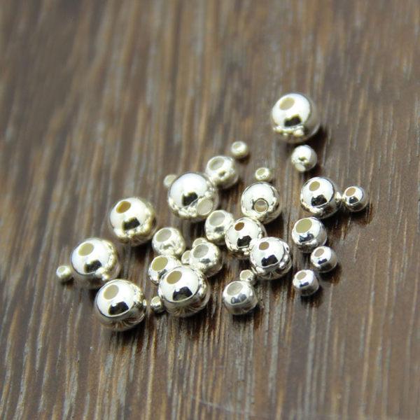 Silver shop 純銀 空心珠 規格:4mm 單個[ SPP 029 ]