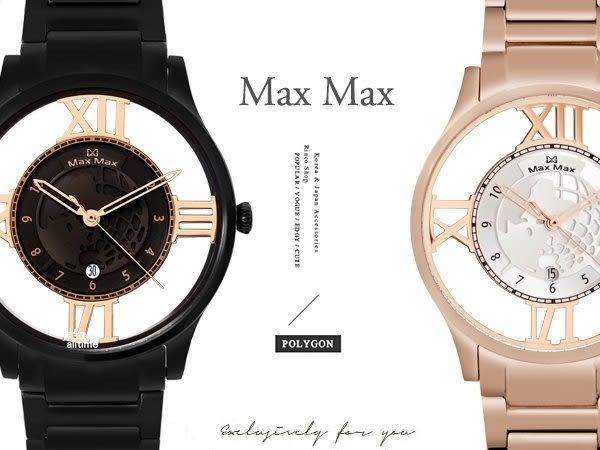 【完全計時】手錶館│Max Max 多功能新款鋼帶 藍寶石水晶陶瓷錶 極限鏤空 MAS7010 日期 地球