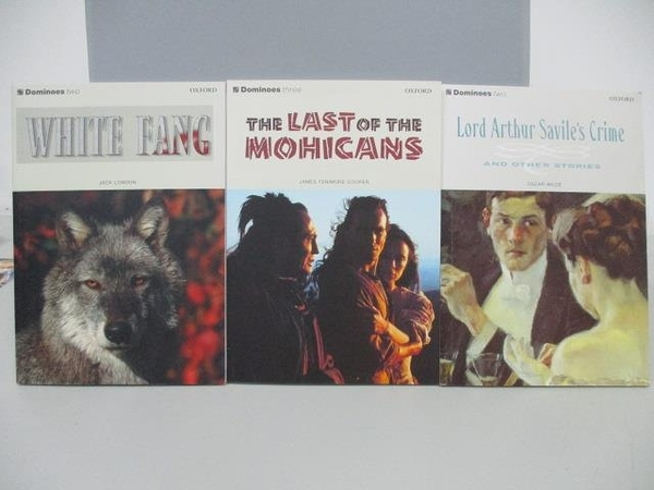 【書寶二手書T9/原文小說_ADY】White Fang_The Last of the Mohicans等_共3本合售_附光碟