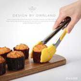 廚房不銹鋼食物硅膠燒烤夾牛排夾烘焙蛋糕面包手抓工具     LY6546『愛尚生活館』