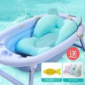 新生兒洗澡神器嬰兒浴盆網兜防滑海綿墊寶寶浴架懸浮墊通用可坐躺