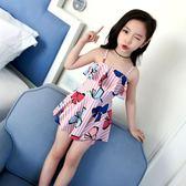 兒童泳衣女游泳衣連體公主裙式寶寶泳衣可愛女童泳衣幼兒中大童   魔法鞋櫃