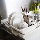 台面排水式瀝水架 生活采家 碗筷盤子清洗 碗盤匙筷 收納置物架#16172