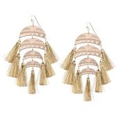 鍍金耳環-華美誇張多層流蘇女耳飾3色73ns30【時尚巴黎】