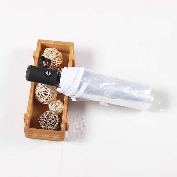 韓國透明雨傘女摺疊全自動開收傘森系三折學生晴雨傘男小清新加厚 黛尼時尚精品