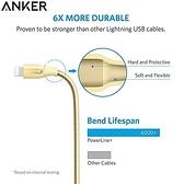 又敗家Anker PowerLine+編織Lightning充電線30cm蘋果Apple數據線iPod iPhone電源線iPad touch 7 8 X SE mini pro air plus