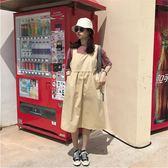 無袖洋裝夏季韓版寬鬆無袖復古背帶裙中長款連身裙長裙學生女 全館免運