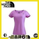 【The North Face 女 FLASHDRY短袖T恤 桃粉紫灰】NF00CA3A/短袖/快乾上衣/T恤
