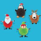 聖誕 禮物 軟刺球玩具8入-聖誕好朋友
