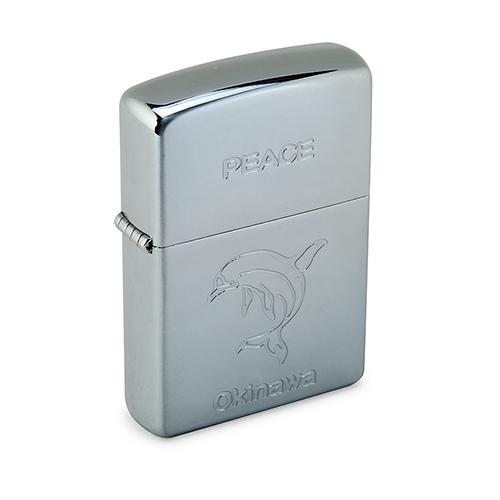 ZIPPO Okinawa限定版海豚圖案打火機(銀色)064001-2