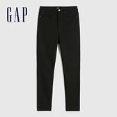 Gap女裝 時尚抓絨內裡高腰牛仔褲 656448-黑色