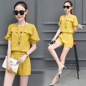2018夏裝新款女裝洋氣套裝女夏季兩件套時尚韓版氣質潮 JA2881『美鞋公社』