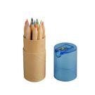 【慈惠庇護工場】CW-A-008-12色短/長色鉛筆 長形-7吋(桶裝)