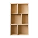 空櫃 書櫃 收納櫃【收納屋】創意六格三層櫃-木紋色& DIY組合傢俱