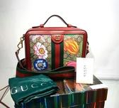 ■現貨在台■專櫃77折■ Gucci 全新真品 GG Supreme 花卉限量款 Ophidia 斜背包餐盒包
