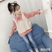 女童長袖上衣洋氣襯衫套裝秋裝新款韓版秋兒童時尚童裝 zm8334『俏美人大尺碼』