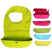 立體圍兜 大容量 矽膠 防水圍兜 折疊收納 兒童圍兜 果凍色 嬰幼兒吃飯兜 RA2201 吃飯兜