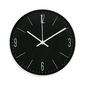 LOVEL 20cm簡約鋁框時鐘-炙熱黑(C723-BK)