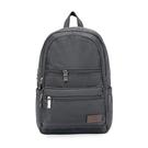 【南紡購物中心】J II 後背包-極限休閒雙拉鍊後背包-深灰色-6366-3