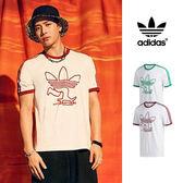 【GT】Adidas Originals 白 短袖T恤 純棉 運動 休閒 滑板 上衣 短T 愛迪達 三葉草 三條線 王嘉爾 Logo