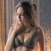 華歌爾-伊珊露絲夢幻花園C罩杯內衣(優雅褐)性感豐胸-飛思美背-嚴選華麗蕾絲EB4651-FQ