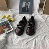 娃娃鞋ins復古小皮鞋女2020春季新款百搭原宿ulzzang軟妹厚底大頭娃娃鞋 交換禮物