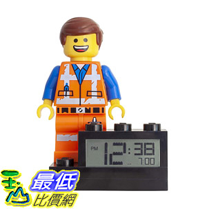 [8美國直購] 會講話的兒童鬧鐘 LEGO Movie 2 9003967 Emmet Kids Minifigure Light Up Alarm Clock color plastic