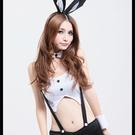 Cosplay角色扮演吊帶三角褲兔女郎職撞舉牌小兔子-白色(均碼)