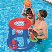 男女寶寶游泳池戲水用品 小孩充氣籃球兒童水上投籃益智游泳玩具·  9號潮人館