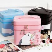 化妝包 - 手提便攜簡約化妝品護膚箱收納盒