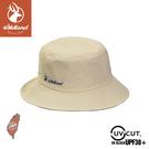 【Wildland 荒野 中性抗UV雙面漁夫帽《白卡其》】W1075/防曬帽/休閒帽/漁夫帽