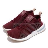 【五折特賣】adidas 休閒鞋 ARKYN W 紅 白 女鞋 襪套式 繫帶芭蕾系列 回饋中底 運動鞋【PUMP306】 CG6222