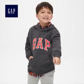 Gap男童 基本款時尚舒適休閒連帽上衣 869631-炭灰