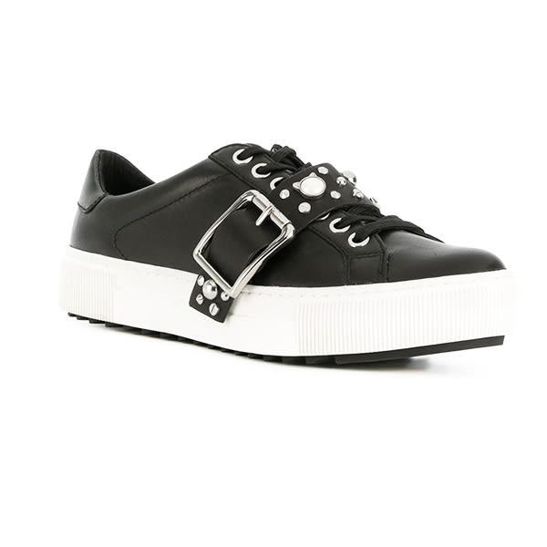 Karl Lagerfeld 卡爾 老佛爺 女鞋 LUXOR KUP珍珠鉚釘休閒鞋-黑