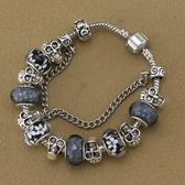 串珠手環-黑色系列琉璃飾品個性龐克風女配件73kc351【時尚巴黎】