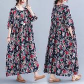 洋裝 大碼連身裙韓版減齡加肥加大胖MM寬松顯瘦短袖連身裙長裙MC062 胖妞身櫥