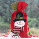 聖誕裝飾品禮品袋紅酒袋餐廳裝飾 雪人立體造型